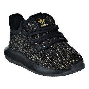 Adidas Tubular Shadow Core Black & Gold Glitter